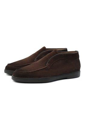 Мужские замшевые ботинки SANTONI коричневого цвета, арт. MGYA16715SM0APMST55 | Фото 1