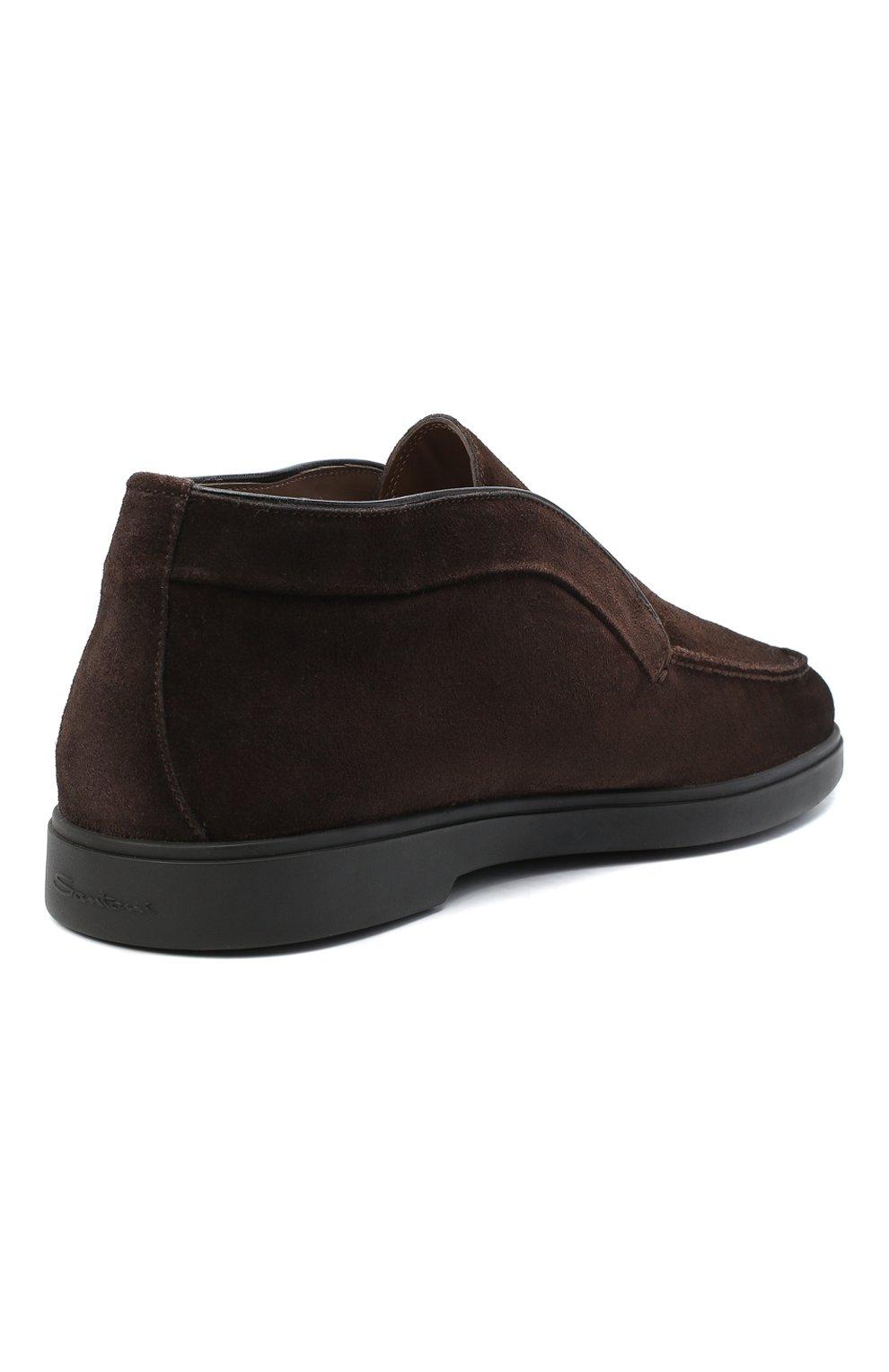 Мужские замшевые ботинки SANTONI коричневого цвета, арт. MGYA16715SM0APMST55   Фото 4