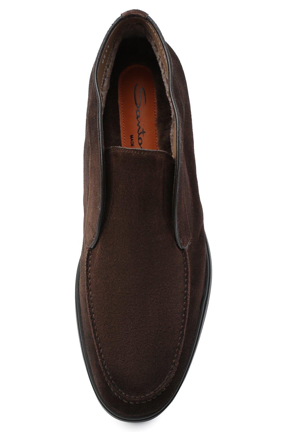 Мужские замшевые ботинки SANTONI коричневого цвета, арт. MGYA16715SM0APMST55   Фото 5