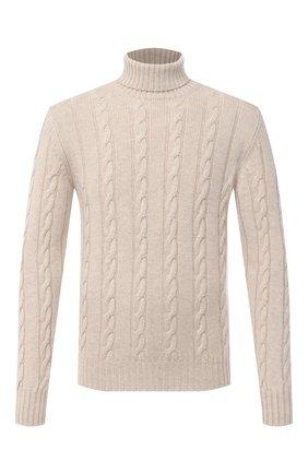 Мужской свитер из шерсти и шелка LUCIANO BARBERA бежевого цвета, арт. 109H22/52174 | Фото 1