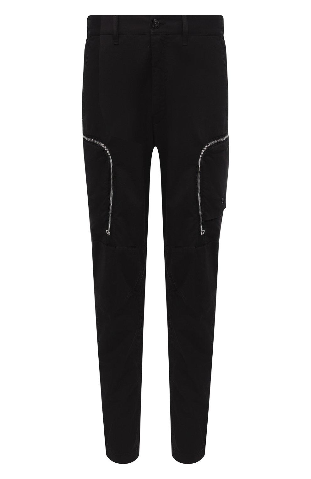 Мужские брюки-карго из хлопка и шерсти STONE ISLAND SHADOW PROJECT черного цвета, арт. 731930508 | Фото 1
