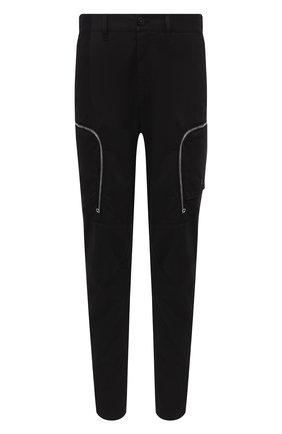 Мужской брюки-карго из хлопка и шерсти STONE ISLAND черного цвета, арт. 731930508 | Фото 1
