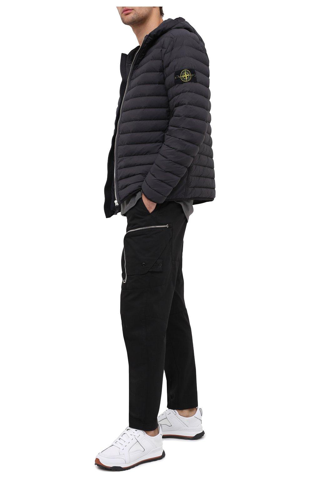 Мужские брюки-карго из хлопка и шерсти STONE ISLAND SHADOW PROJECT черного цвета, арт. 731930508 | Фото 2