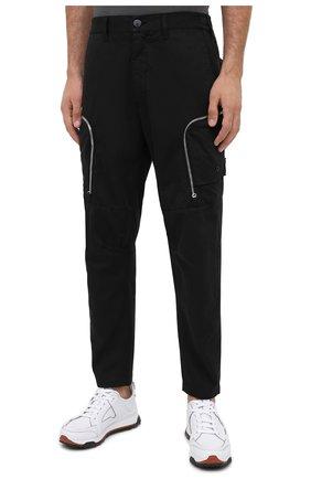Мужские брюки-карго из хлопка и шерсти STONE ISLAND SHADOW PROJECT черного цвета, арт. 731930508 | Фото 3