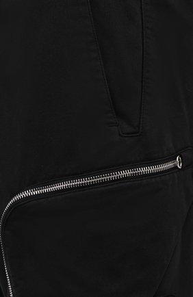 Мужские брюки-карго из хлопка и шерсти STONE ISLAND SHADOW PROJECT черного цвета, арт. 731930508 | Фото 5