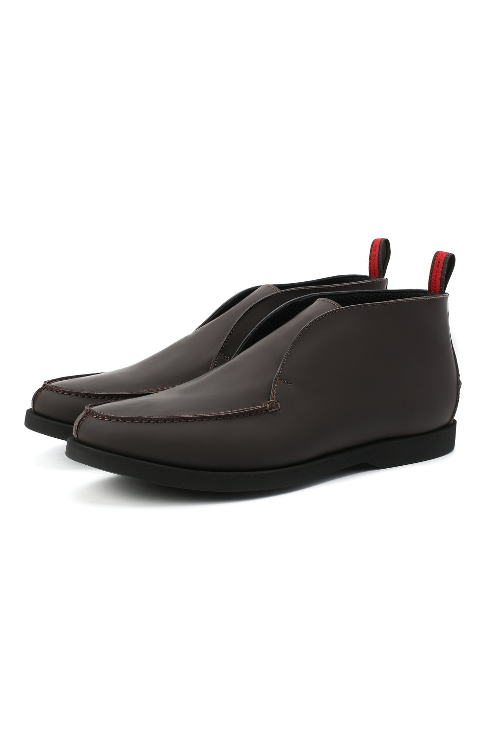 Мужские кожаные ботинки KITON коричневого цвета, арт. USSFLYN00674 | Фото 1