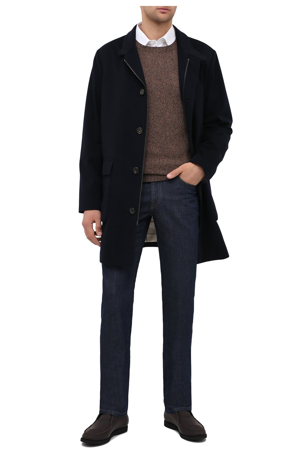 Мужские кожаные ботинки KITON коричневого цвета, арт. USSFLYN00674 | Фото 2