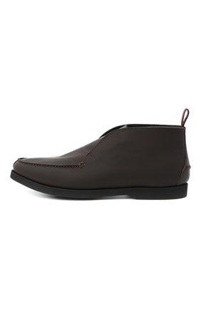 Мужские кожаные ботинки KITON коричневого цвета, арт. USSFLYN00674 | Фото 3