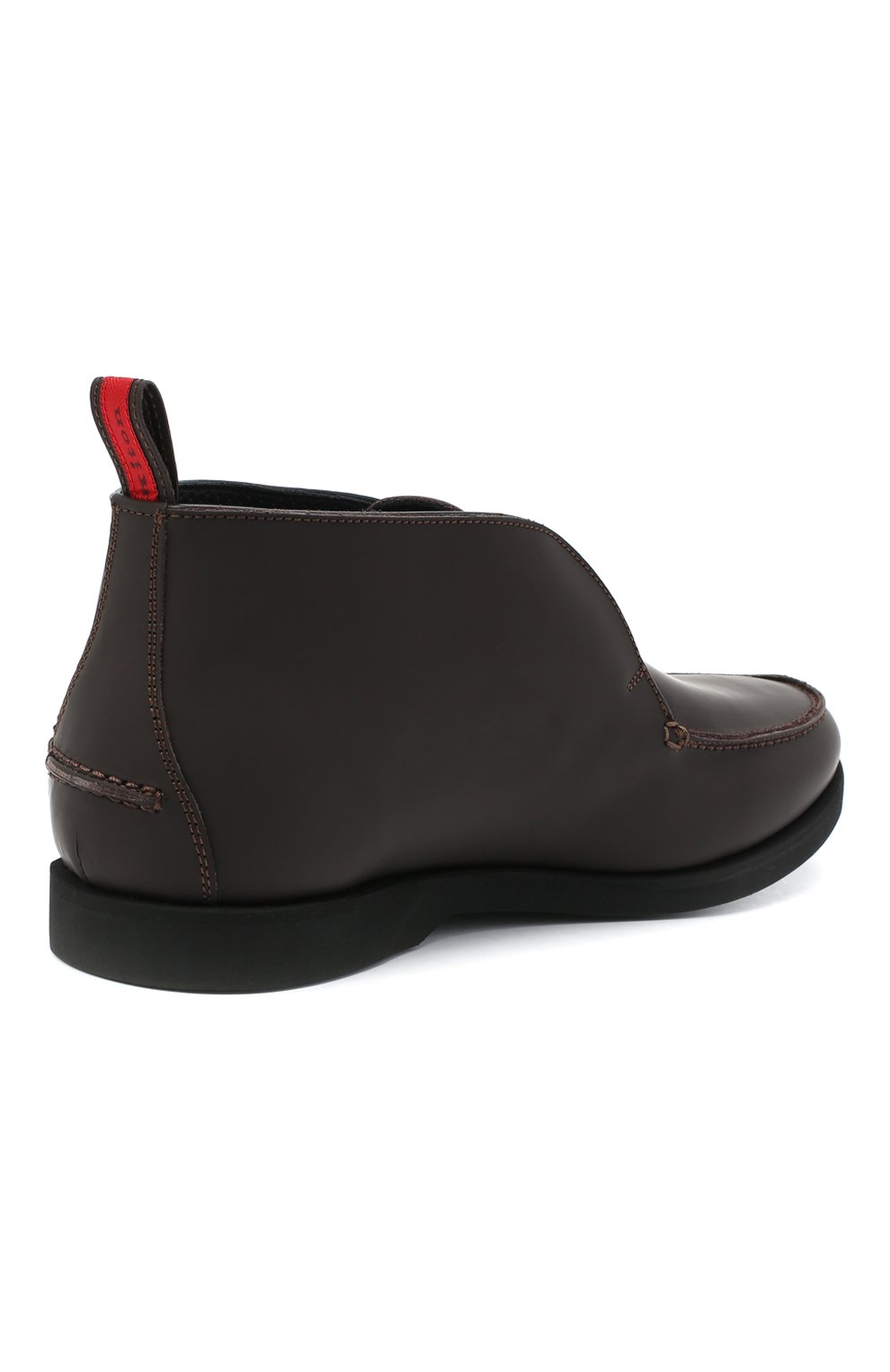 Мужские кожаные ботинки KITON коричневого цвета, арт. USSFLYN00674 | Фото 4