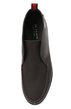 Мужские кожаные ботинки KITON коричневого цвета, арт. USSFLYN00674 | Фото 5