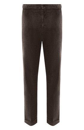 Мужской брюки из хлопка и кашемира KITON темно-коричневого цвета, арт. UFPLACJ02T46   Фото 1