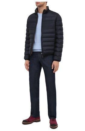 Мужской кашемировый свитер KITON голубого цвета, арт. UK1127   Фото 2