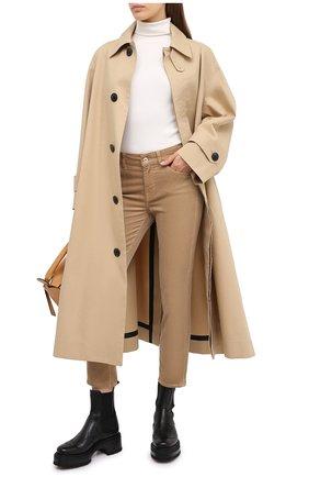 Женские брюки 7 FOR ALL MANKIND бежевого цвета, арт. JSVYV640SA | Фото 2