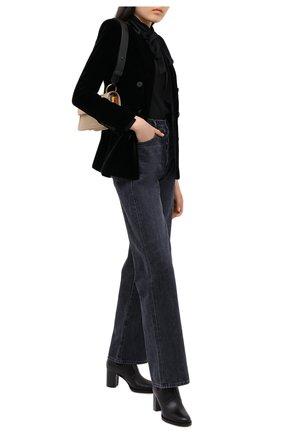 Женские кожаные ботильоны valentino garavani rockstud VALENTINO черного цвета, арт. UW2S0Z80/VXS   Фото 2