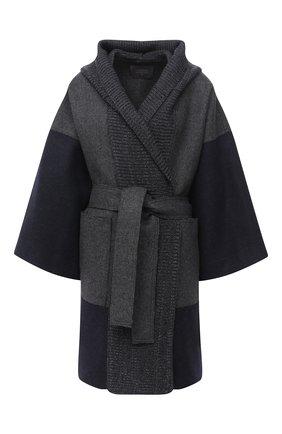 Женское шерстяное пальто LORENA ANTONIAZZI темно-синего цвета, арт. A2004CP006/3269   Фото 1