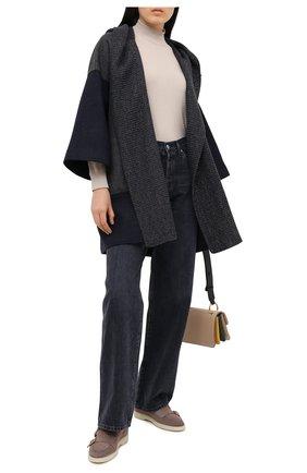 Женское шерстяное пальто LORENA ANTONIAZZI темно-синего цвета, арт. A2004CP006/3269   Фото 2
