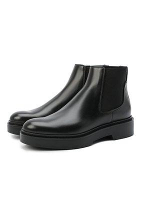 Женские кожаные ботинки SANTONI черного цвета, арт. WTHW58932SM0NUDYN01   Фото 1