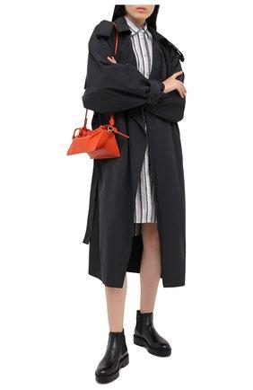 Женские кожаные ботинки SANTONI черного цвета, арт. WTHW58932SM0NUDYN01   Фото 2