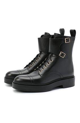 Женские кожаные ботинки SANTONI черного цвета, арт. WTHW59003SM0NUDYN01 | Фото 1