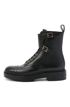 Женские кожаные ботинки SANTONI черного цвета, арт. WTHW59003SM0NUDYN01 | Фото 3