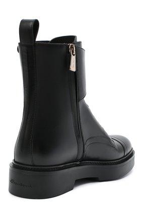 Женские кожаные ботинки SANTONI черного цвета, арт. WTHW59003SM0NUDYN01 | Фото 4