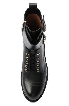Женские кожаные ботинки SANTONI черного цвета, арт. WTHW59003SM0NUDYN01 | Фото 5