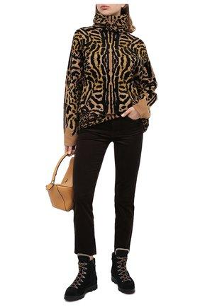 Женские замшевые ботинки SANTONI черного цвета, арт. WTUD58934SM0APYLN01 | Фото 2