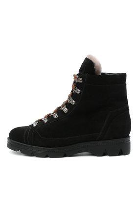 Женские замшевые ботинки SANTONI черного цвета, арт. WTUD58934SM0APYLN01   Фото 3