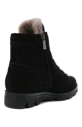 Женские замшевые ботинки SANTONI черного цвета, арт. WTUD58934SM0APYLN01   Фото 4