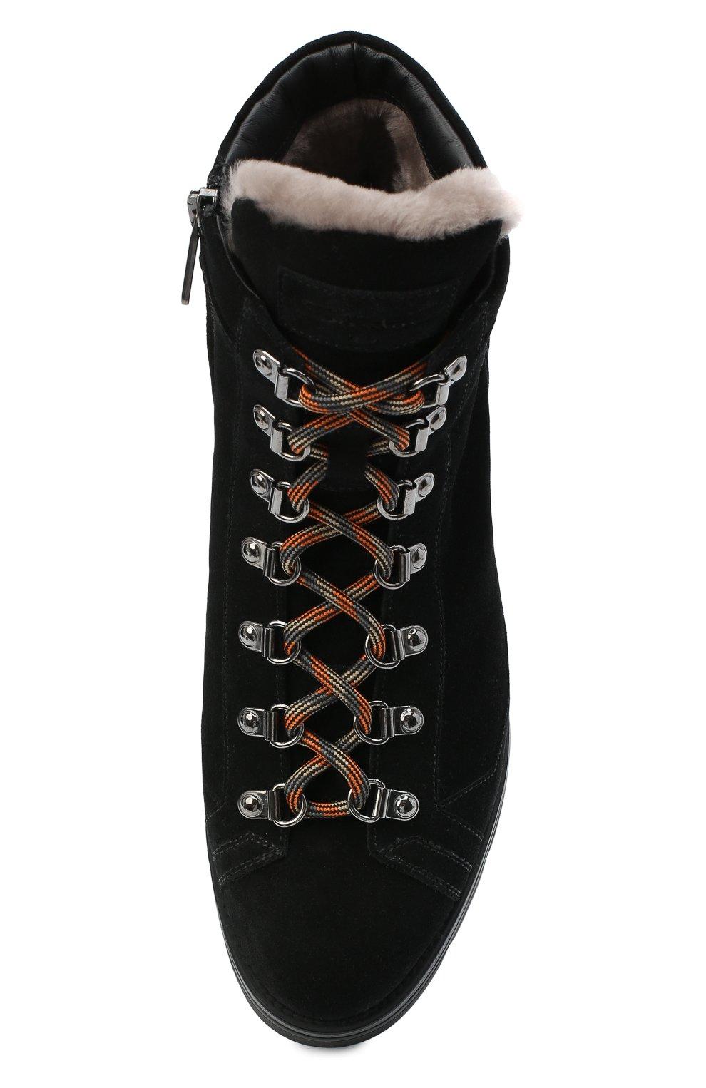 Женские замшевые ботинки SANTONI черного цвета, арт. WTUD58934SM0APYLN01   Фото 5