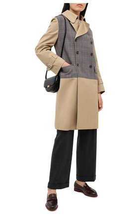 Женские кожаные лоферы SANTONI бордового цвета, арт. WUQU58984BA1NVCRB70   Фото 2