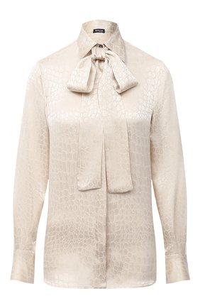 Женская шелковая блузка KITON бежевого цвета, арт. D48407K05T65 | Фото 1