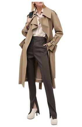 Женская шелковая блузка KITON бежевого цвета, арт. D48407K05T65 | Фото 2