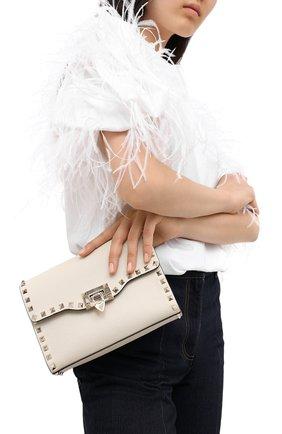 Женская сумка valentino garavani rockstud VALENTINO белого цвета, арт. UW2B0181/VSF | Фото 2