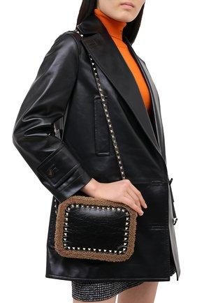 Женская сумка valentino garavani rockstud VALENTINO черного цвета, арт. UW2B0809/FHN | Фото 2