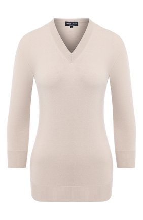 Женская кашемировый пуловер GIORGIO ARMANI бежевого цвета, арт. 6HAM18/AM83Z | Фото 1