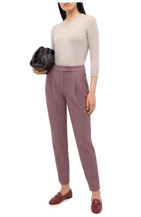 Женская кашемировый пуловер GIORGIO ARMANI бежевого цвета, арт. 6HAM18/AM83Z | Фото 2