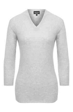 Женский кашемировый пуловер GIORGIO ARMANI серого цвета, арт. 6HAM18/AM83Z | Фото 1