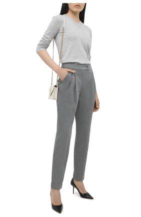 Женский кашемировый пуловер GIORGIO ARMANI серого цвета, арт. 6HAM18/AM83Z | Фото 2