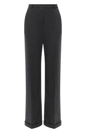 Женские шерстяные брюки GIORGIO ARMANI темно-серого цвета, арт. 0WHPP0DP/T016Z | Фото 1