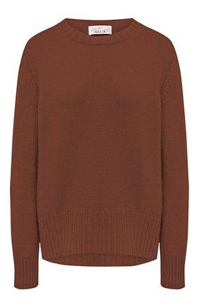 Женский кашемировый пуловер ALLUDE коричневого цвета, арт. 205/11182 | Фото 1