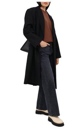 Женский кашемировый пуловер ALLUDE коричневого цвета, арт. 205/11182 | Фото 2