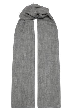 Женский кашемировый шарф RALPH LAUREN серого цвета, арт. 434563521   Фото 1