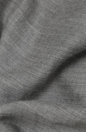 Женский кашемировый шарф RALPH LAUREN серого цвета, арт. 434563521   Фото 2
