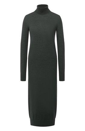 Женское шерстяное платье JIL SANDER зеленого цвета, арт. JSPR754054-WRY20058 | Фото 1