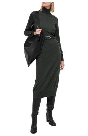 Женское шерстяное платье JIL SANDER зеленого цвета, арт. JSPR754054-WRY20058 | Фото 2
