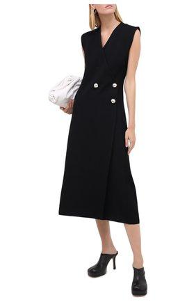 Женское платье из шерсти и вискозы JIL SANDER черного цвета, арт. JSPR754073-WRY39038 | Фото 2
