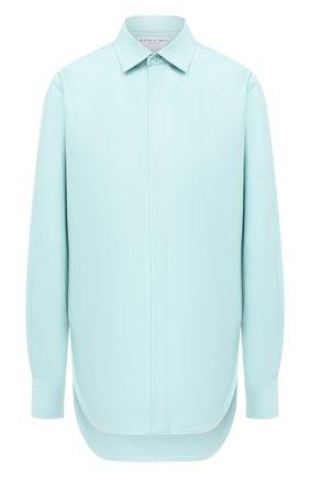 Женская хлопковая рубашка BOTTEGA VENETA голубого цвета, арт. 632698/VKU90 | Фото 1