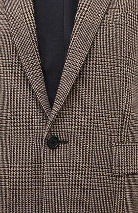 Женский шерстяной жакет SAINT LAURENT коричневого цвета, арт. 634301/Y5B64 | Фото 5
