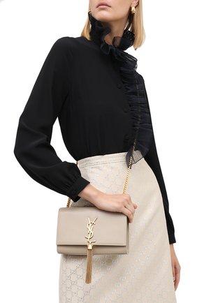 Женская сумка kate small  SAINT LAURENT бежевого цвета, арт. 474366/B0W0J | Фото 2